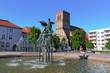 Leinwanddruck Bild - Anklam Rathausplatz