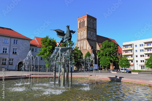 Leinwanddruck Bild Anklam Rathausplatz