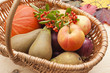 Harvest festival friut and vegetables basket