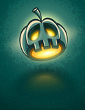 terrible jack-o-lantern head for halloween vector illustration