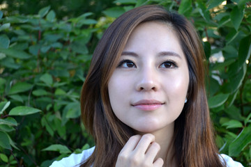 Attractive Young Asian Woman's Portrait