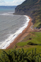 Seatown beach and Golden Cap Dorset England