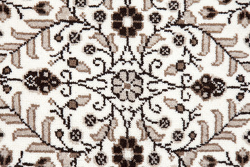 Carpet With Intricate Design.