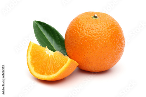Orange and orange slice