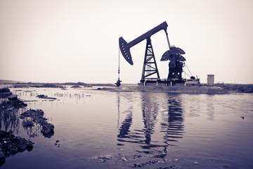 Oil pump at riverside