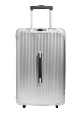 Fototapety Silver suitcase on isolated on white