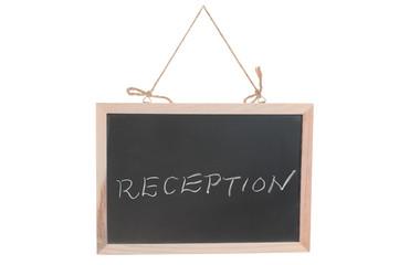 Reception word on blackboard