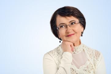 Portrait of success senior woman