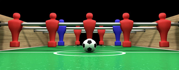 Foosball Table One Team