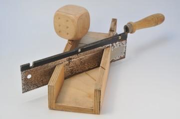 Altes Werkzeug Gehrungssäge