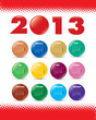 multicolor happy new year 2013 calendar