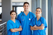 group of young hospital workers in scrubs - 45632318