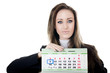 The business woman with a calendar