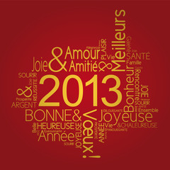 Carte de vœux 2012 joyeuse