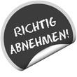 TF-Sticker rund cu RICHTIG ABNEHMEN!