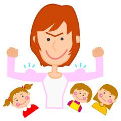 母 お母さん 主婦 ママ 子供 女性 イラスト