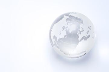 透明の地球儀