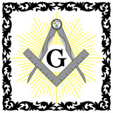 WEB ART DESIGN Masonic Tools Compass Set Square10