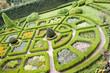Aerial view on beauty garden in Pieskowa Skala.