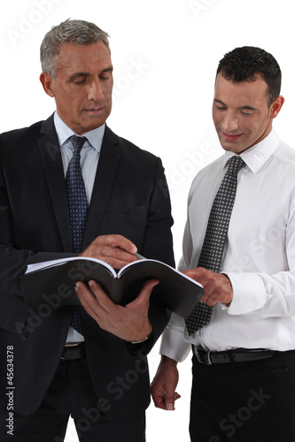 Businessman discussing something