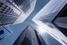 "Постер, картина, фотообои ""Buildings en contre-plongée - New York"""