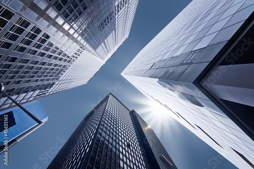 Foto Spatwand New York Buildings en contre-plongée - New York