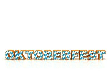 Schriftzug Oktoberfest Bayernmuster