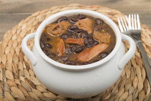 Feijoada - Brazilian beef, sausage, pork and black bean stew