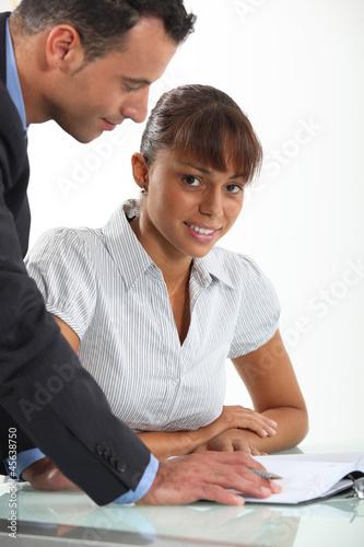 female student with teacher