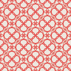 Seamless pattern with bound red threads