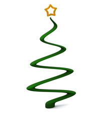 Stylized Cgristmas tree with star at top 3d