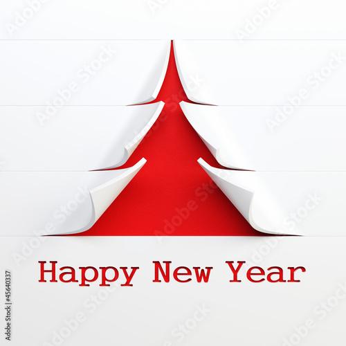 symbolic  New Year's tree 3d rendering