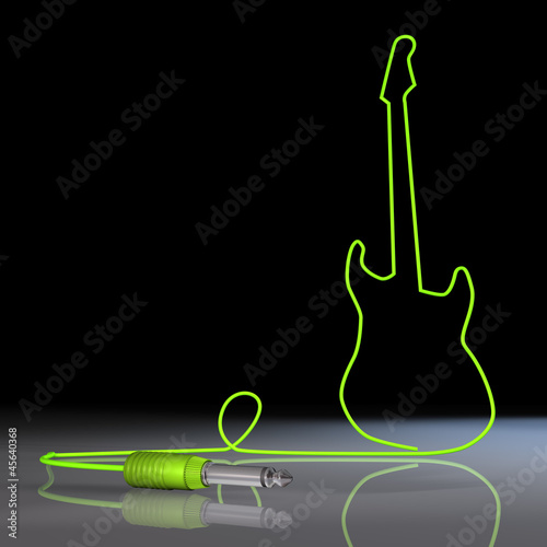 Gitarre Klinkenkabel Grün