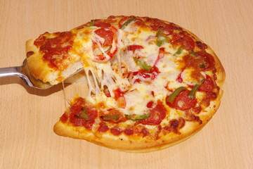 slice of Pizza ready to be served
