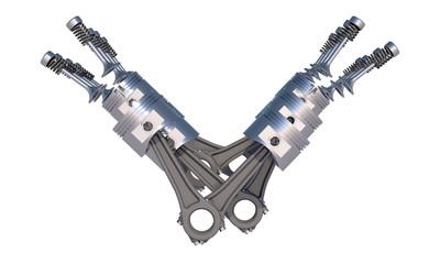 v8 motor schema seitlich