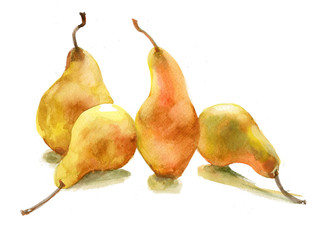 yellow pears