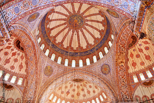 Istanbul, Inside the Blue Mosque (Sultan-Ahmed)