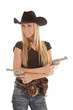 cowgirl arms crossed pistols