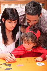 Family at Hallowe'en