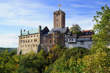 Landscape with Wartburg Castle in Eisenach, Germany