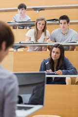 Students looking at the teacher