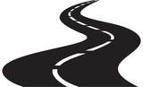 Fototapety vector Illustration of winding road