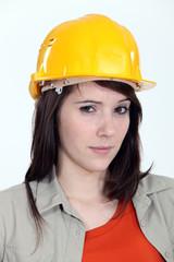 A suspicious construction worker