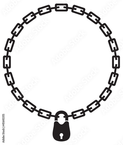 illustration of chain and padlock silhouette