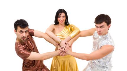 modern style dancers posing
