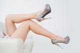 Close-up of high heels