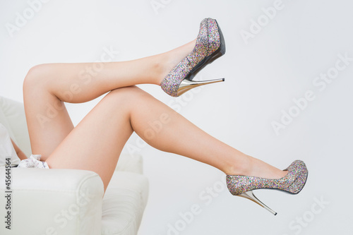 Close-up of high heels