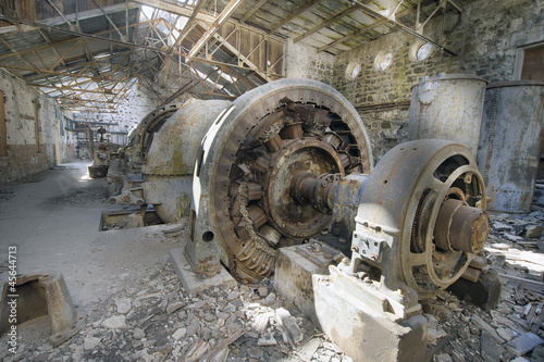 Old Abandoned Electric Powerhouse Station