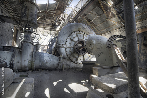 Old Abandoned Electric Power Station