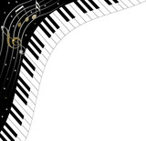 piano keyboard background with place for text